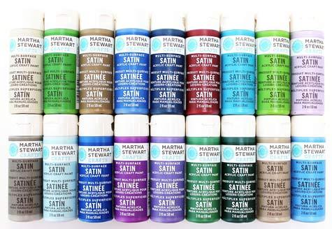 Martha Stewart Acrylic Paint, Best Selling Colors II