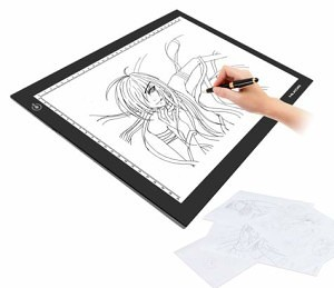 how to use a lightbox tracer for sketching