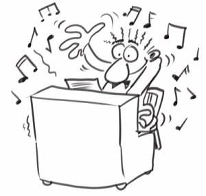 Pianist-cartoon -in-action-one-tune-wonder