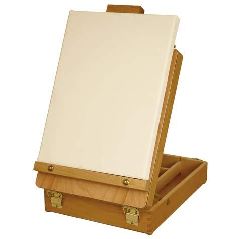 US Art Supply Newport Small Adjustable Wood Table Sketchbox Easel