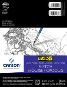canson comic manga sketch pad 8.5 x 11