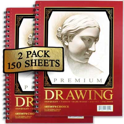 artists choice sketch pa 2 pack 150 sheets 9 x 12