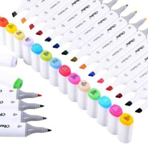 ohuhu-40-colors-dual-tips-art-sketch-twin-marker-pens-highlighters-with-carrying-case