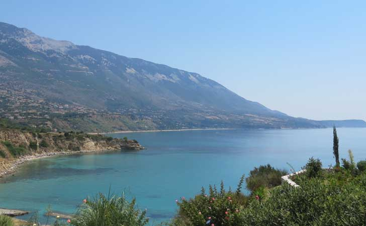 View from our Villa in Kefelonia, Greece