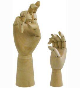 Artist Manikin 12in Male Right Hand