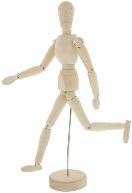 Wooden Manikin anatomy tools Posable Drawing Sketching Model With Stand